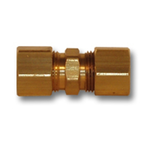Image is loading 1-4-inch-OD-Brass-Compression-Union-Pipe-  sc 1 st  eBay & 1/4 inch OD Brass Compression Union Pipe Fitting NPT fuel gas water ...
