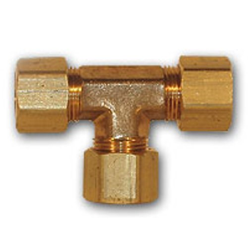 Image is loading 4-pcs-1-4-inch-OD-Compression-Tee-  sc 1 st  eBay & 4 pcs 1/4 inch OD Compression Tee Brass soft copper Pipe Fitting NPT ...
